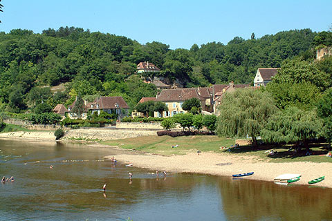 River beaches in the dordogne